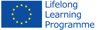 The flag of the EU with the lifelong learning slogan